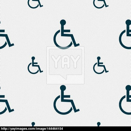 512x512 Disabled Sign Icon. Human On Wheelchair Symbol. Handicapped