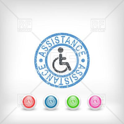 400x400 Handicap Assistance Stamp