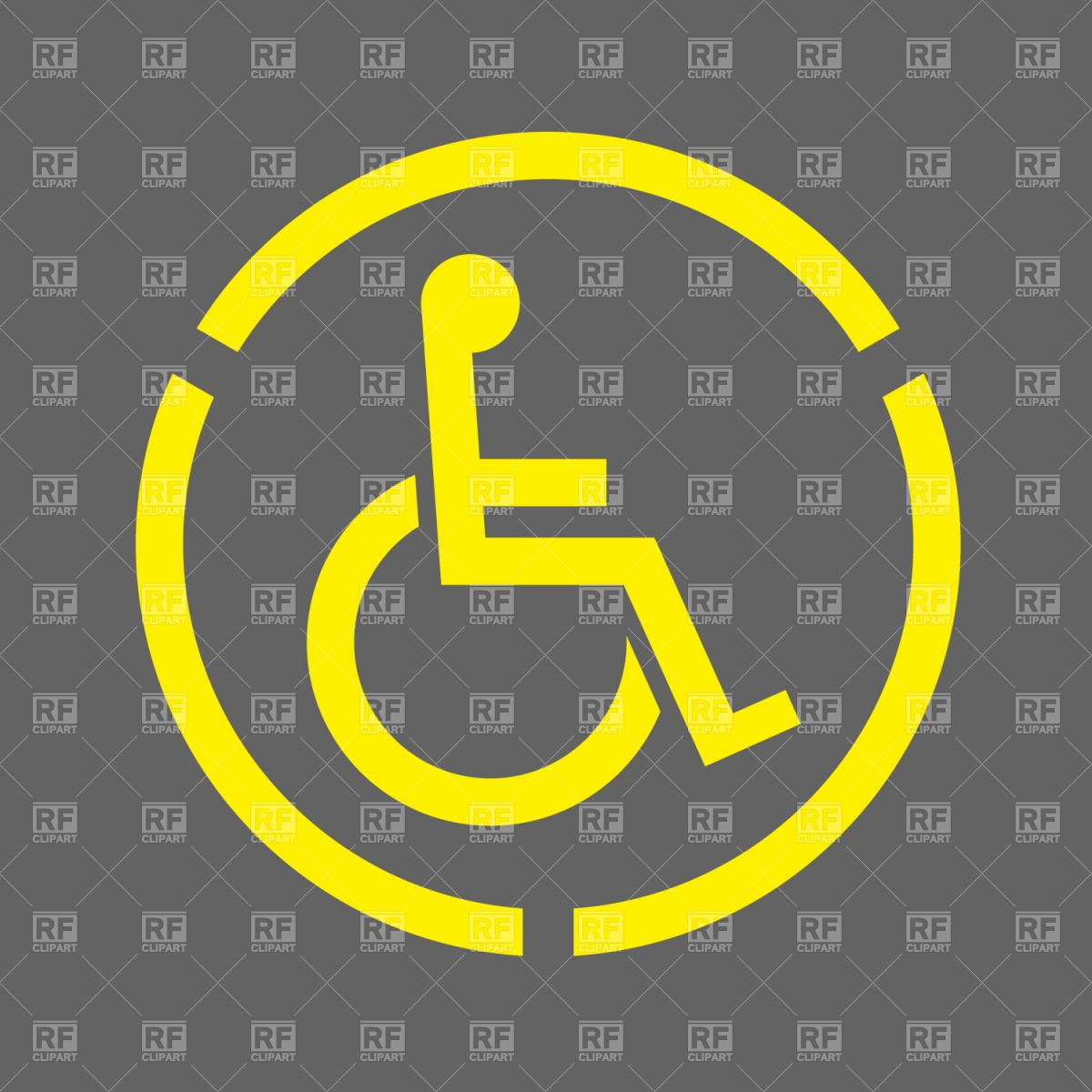 1200x1200 Handicap Symbol Vector Image Vector Artwork Of Signs, Symbols