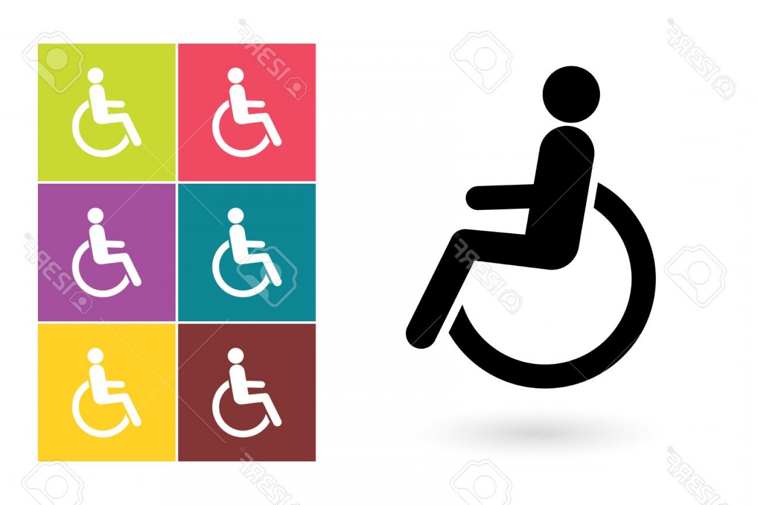 1560x1039 Photostock Vector Disabled Vector Icon Or Disabled Handicap Symbol