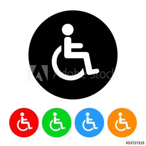 500x500 Wheelchair Handicap Symbol Icon Vector