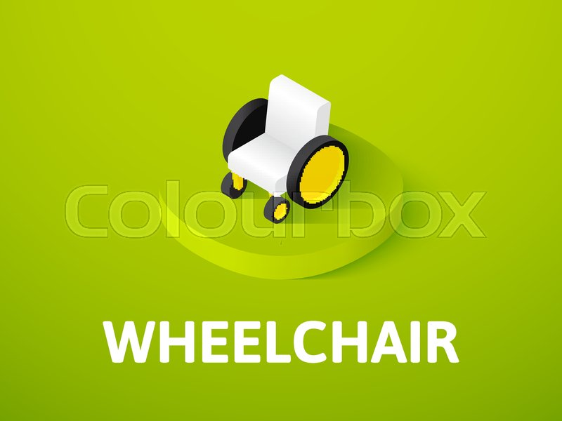 800x600 Wheelchair Icon, Vector Symbol In Flat Isometric Style Isolated On