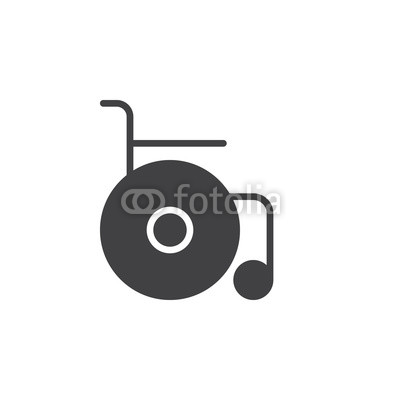 400x400 Wheelchair Icon Vector, Filled Flat Sign, Solid Pictogram Isolated