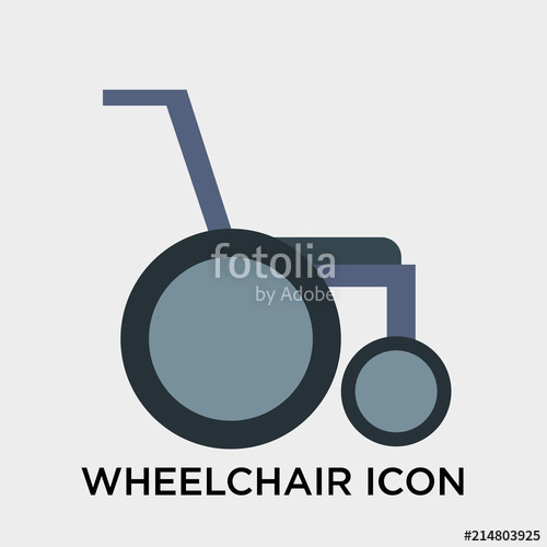 500x500 Wheelchair Icon Vector Sign And Symbol Isolated On White
