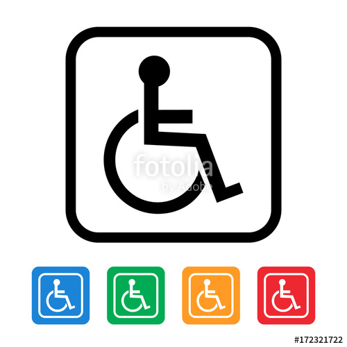 500x500 Handicapped Wheelchair Icon Stock Image And Royalty Free Vector