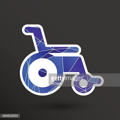 416x416 Disabled Icon Sign Vector Wheelchair Handicap Symbol Stock Vectors