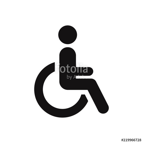 500x500 Disabled Vector Icon. Wheelchair Symbol Stock Image And Royalty