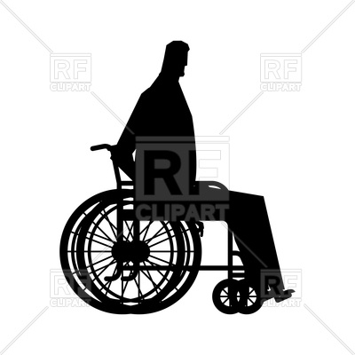 400x400 Disabled Person With Wheelchair Vector Image Vector Artwork Of
