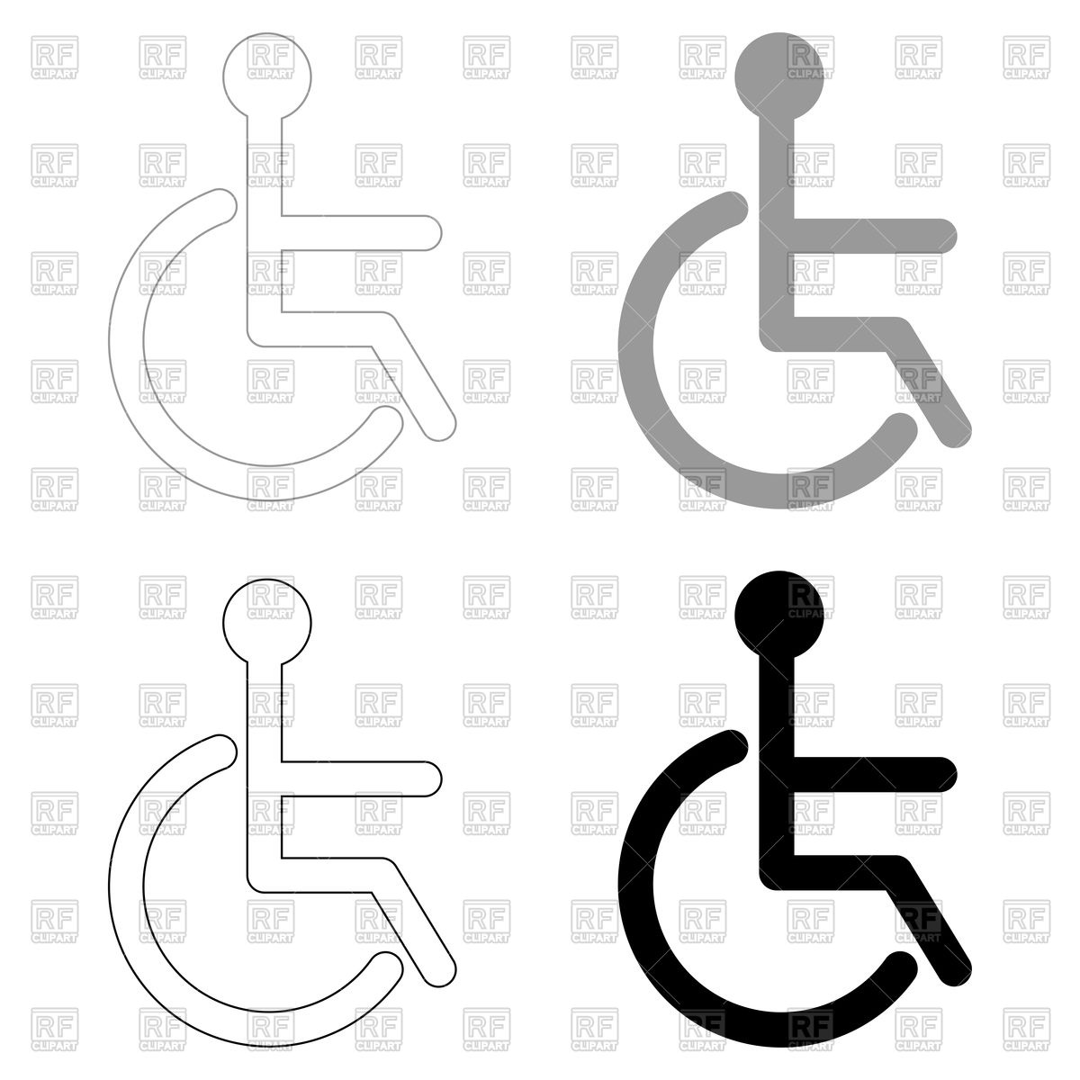 1200x1200 Disabled Sign