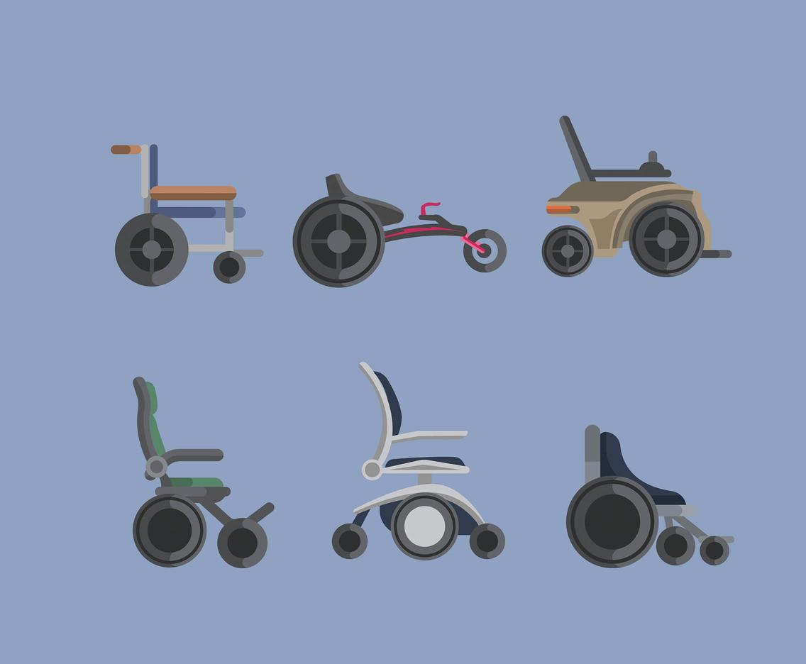 1136x936 Types Of Wheelchair Vector In Flat Design Vector Art Amp Graphics