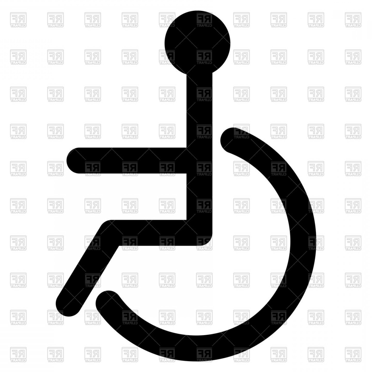 1440x1440 Black Sign Of Disabled Wheelchair Vector Clipart Lazttweet