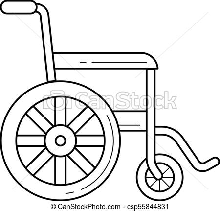 450x431 Wheelchair Line Icon. Wheelchair Vector Line Icon Isolated On
