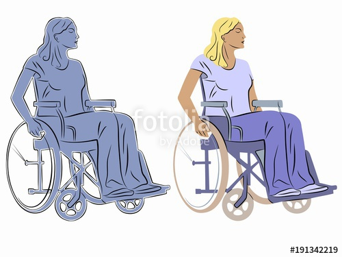 500x375 Illustration Of A Disabled Person In Wheelchair, Vector Draw