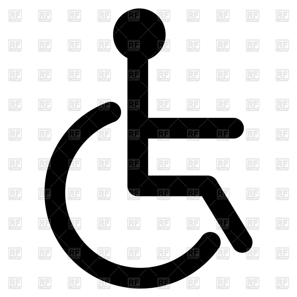 1200x1200 Black Sign Of Disabled