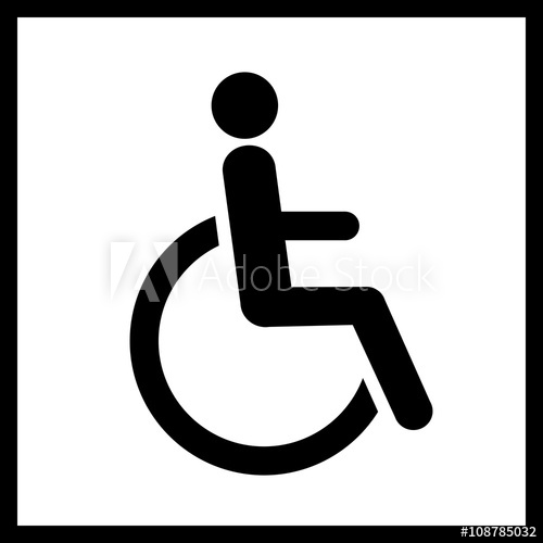 500x500 Disability Vector Icon.man In Wheelchair Icon Isolated.vector