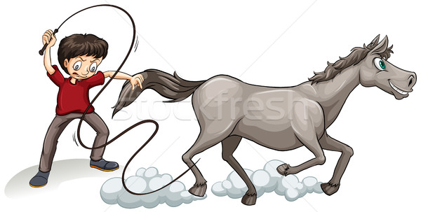 600x303 Man Training Horse With Whip Vector Illustration Daniel Cole