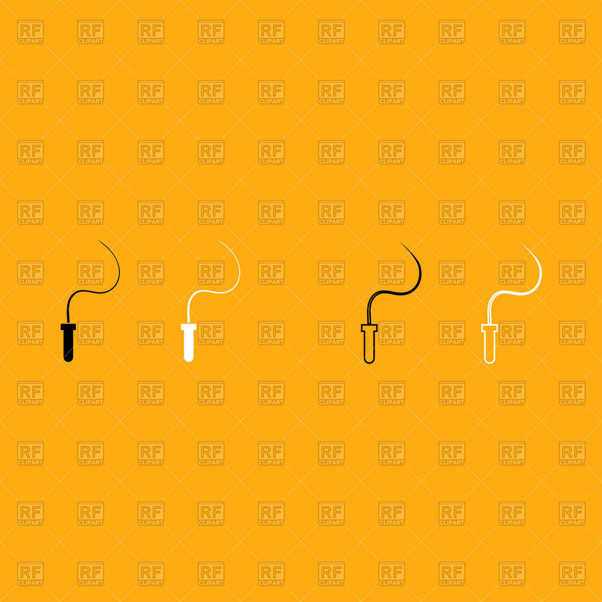 1200x1200 Whip Simple Icon On Orange Background Vector Image Vector