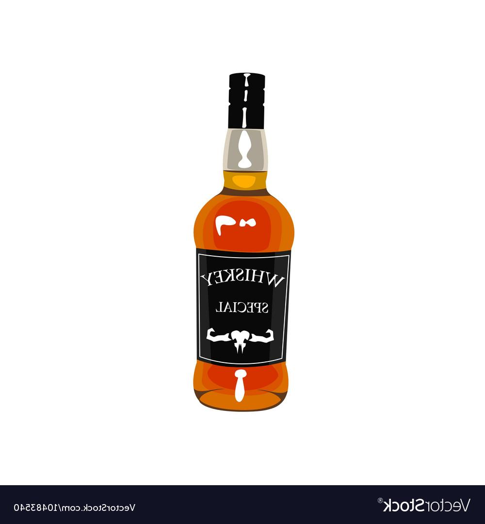 1000x1080 Best Free Whiskey Bottle Drawing Isolated On White Vector Image
