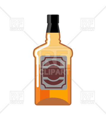 355x400 Whiskey Bottle Isolated Vector Image Vector Artwork Of Food And