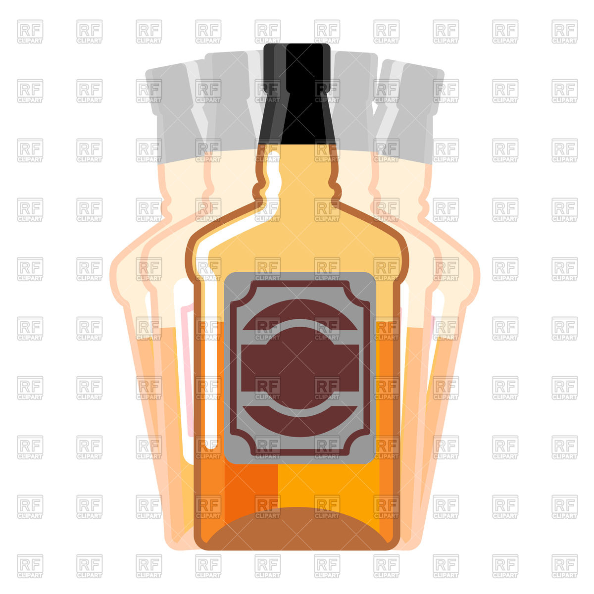 1200x1200 Whiskey Bottle Seeing Double Vector Image Vector Artwork Of Food