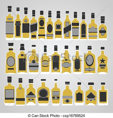 450x470 Whiskey Bottle Set Vector .