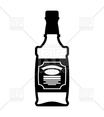 354x400 Bottle Of Whiskey Icon Vector Image Vector Artwork Of Signs
