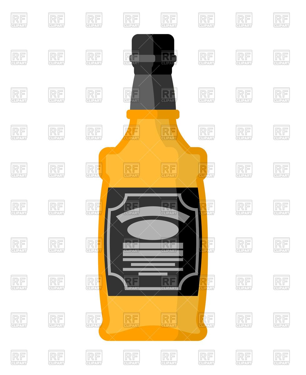 979x1200 Bottle Of Whiskey On White Background Vector Image Vector