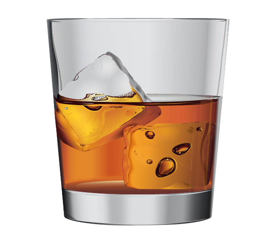 850x768 Create Vector Whiskey On The Rocks Using Adobe Illustrator Cs5