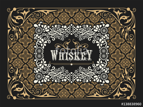 500x376 Old Label Design For Whiskey And Wine Label, Restaurant Banner