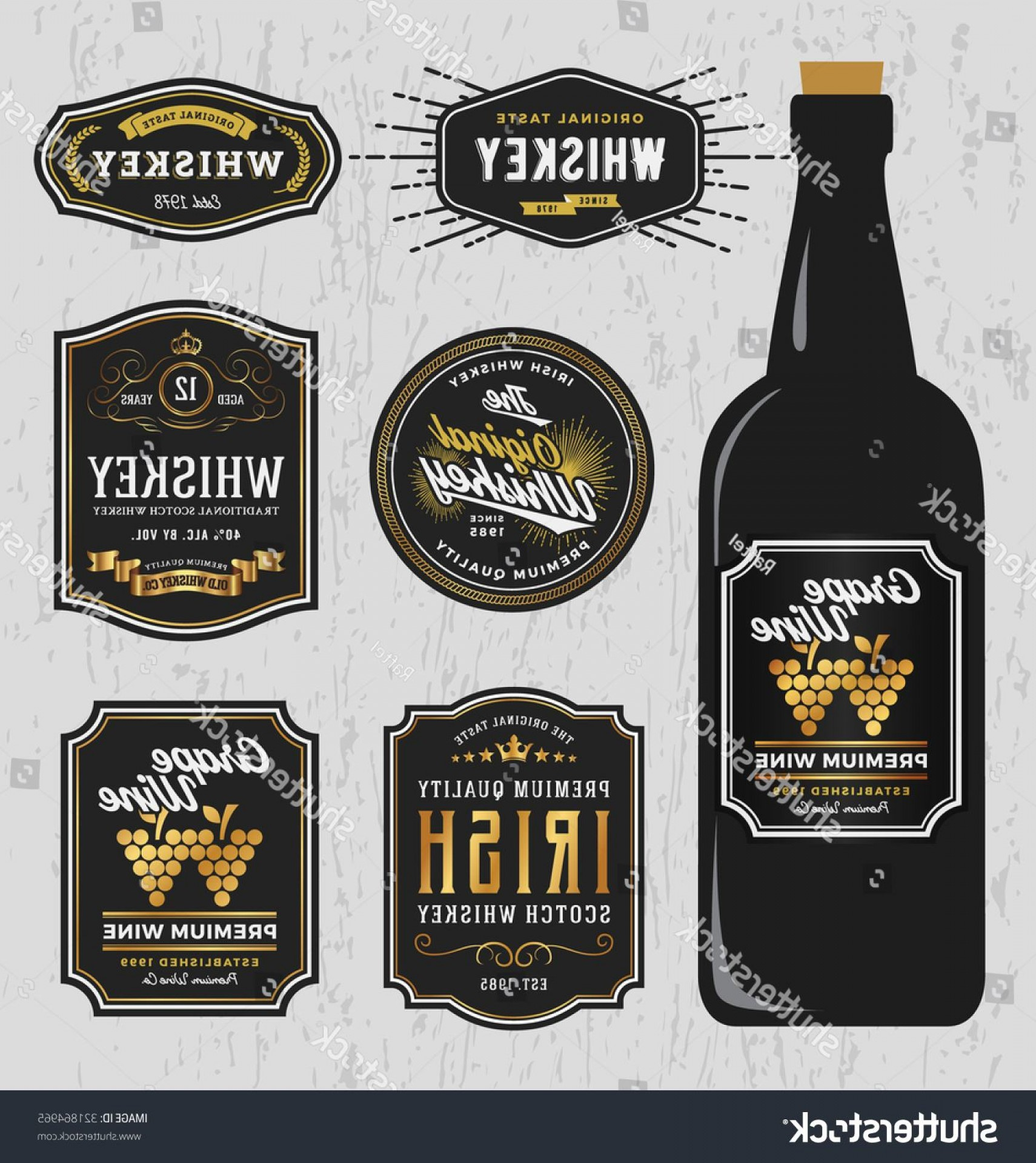 1710x1920 Whiskey Bottle Labels Template Free Guide Vintage Premium
