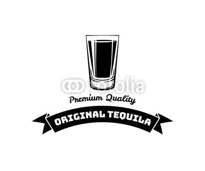 400x333 Whiskey Shot Glass. Alcohol Badge And Label. Vector Illustration