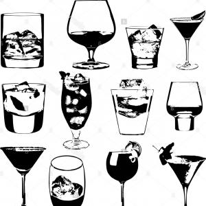 300x300 Glass Of Scotch Whiskey And Ice Vector Shopatcloth