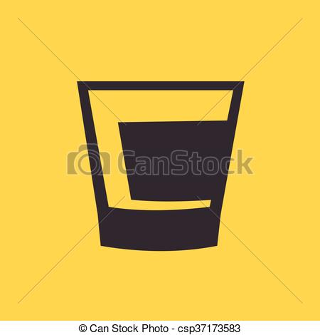 450x470 Linear Icon Of Whiskey Vector