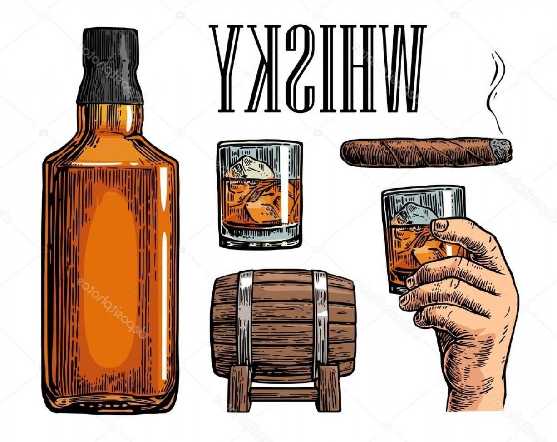 1227x972 Stock Illustration Whiskey Glass With Ice Cubes Sohadacouri
