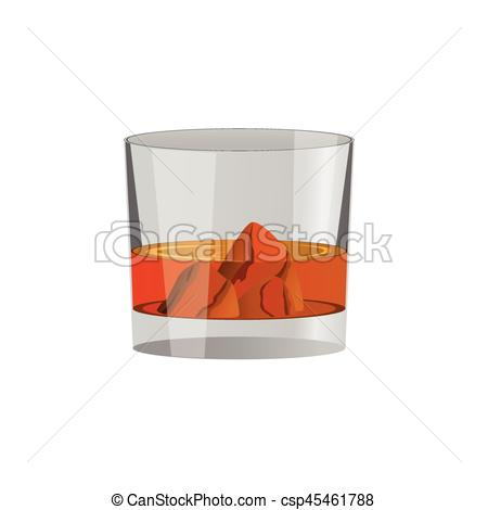 450x470 Whiskey Glass And Whiskey, Vector.