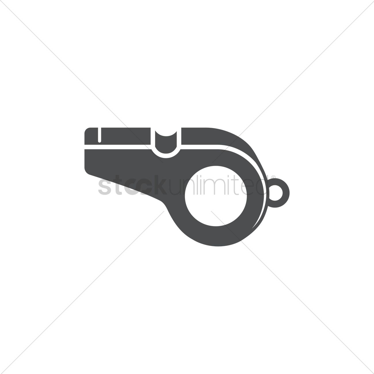 1300x1300 Referee Whistle Vector Image