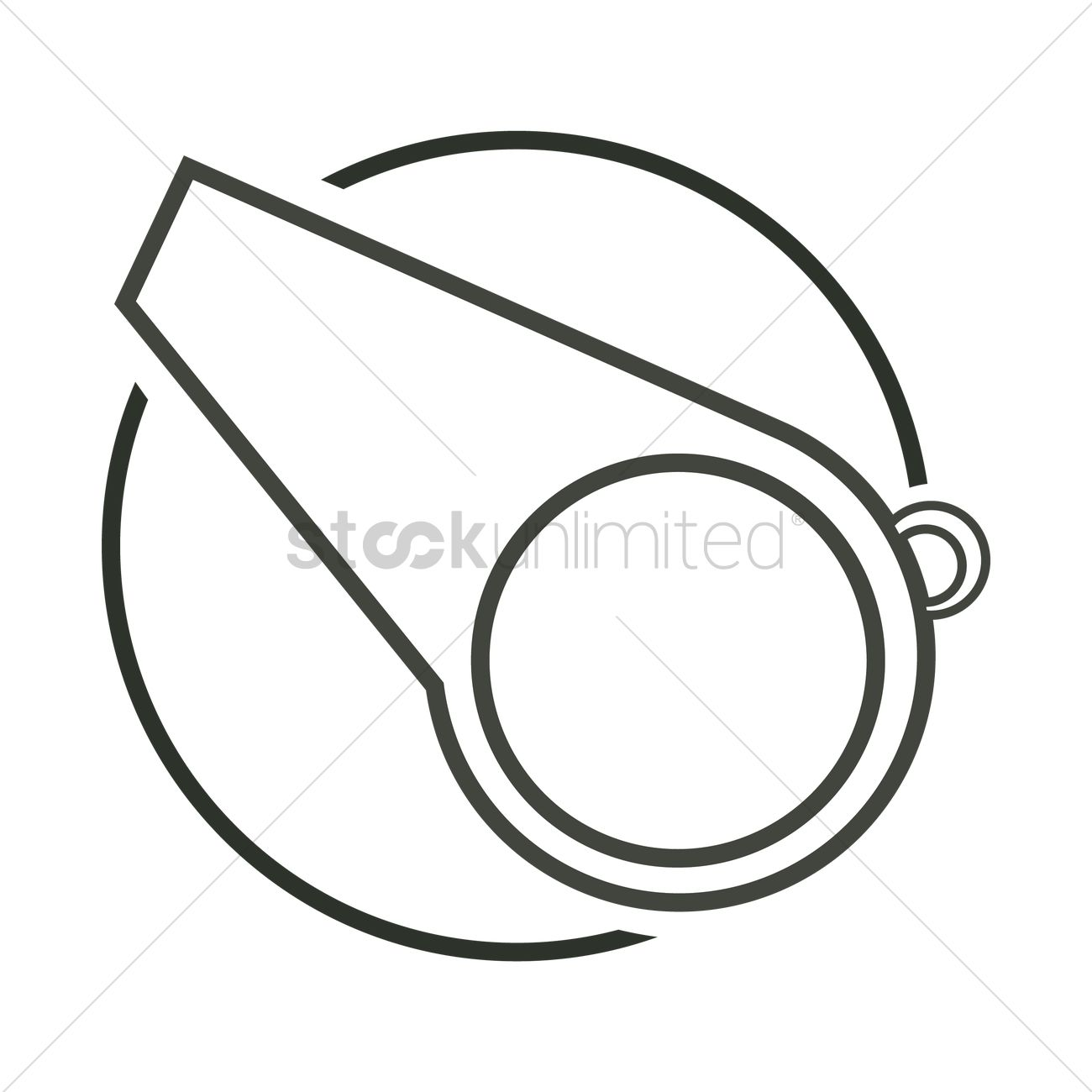1300x1300 Whistle Vector Image