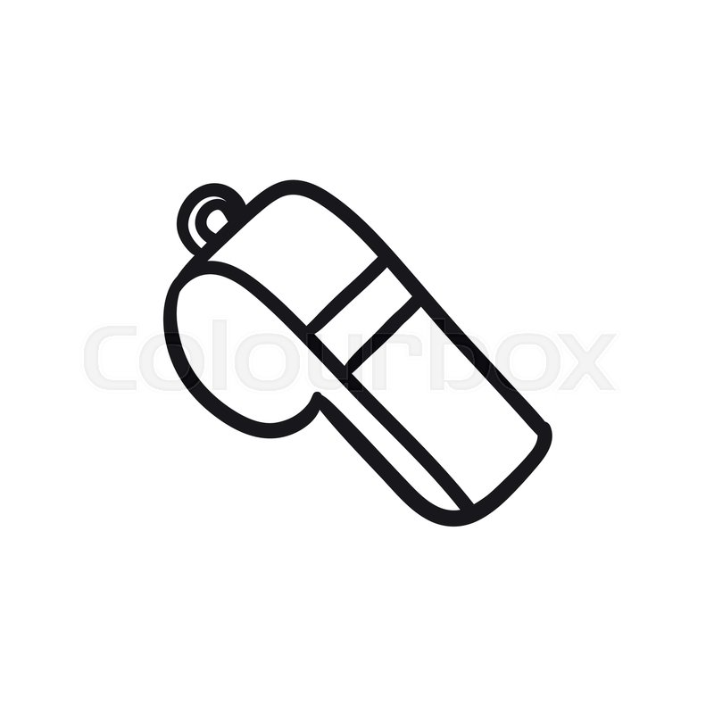 800x800 Whistle Vector Sketch Icon Isolated On Background. Hand Drawn