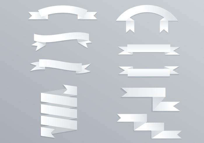 700x490 Origami White Banner Vector Pack
