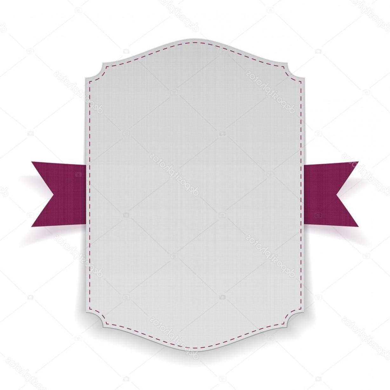 1228x1228 Purple Ribbon Text Banner Vector Shopatcloth
