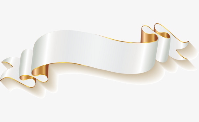 650x400 Vector Hand Painted White Banner, Vector, Gold, Silk Png And
