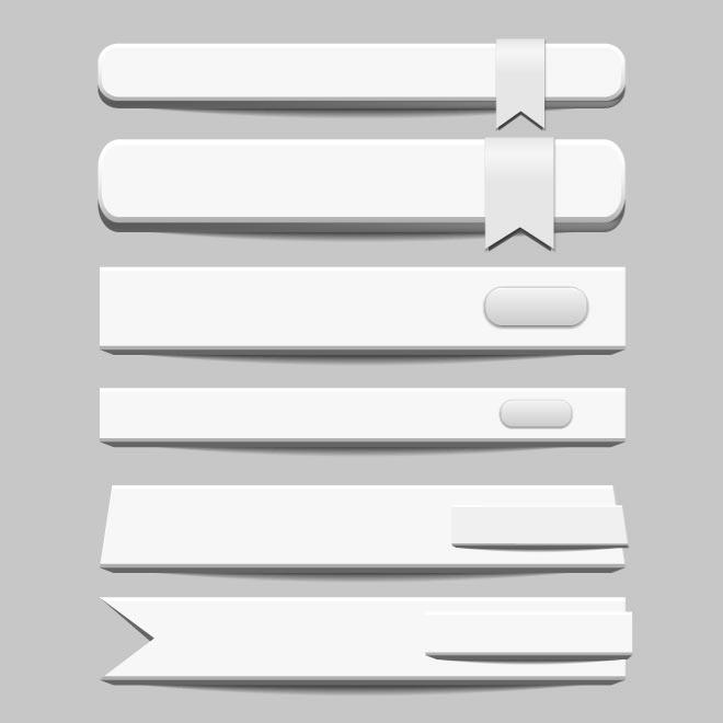 660x660 White Banners Vector Pack