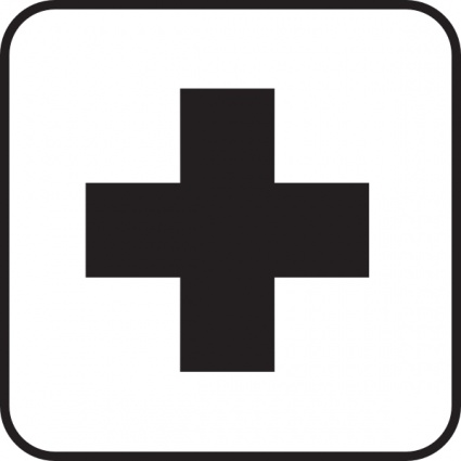425x425 Free Download Of Sign Black Map Cross White Plus First Aid