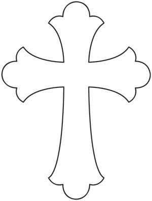 300x398 Baptism Cross Clipart Black And White Amp Baptism Cross Clip Art