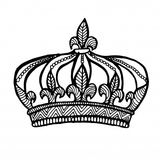 White Crown Vector