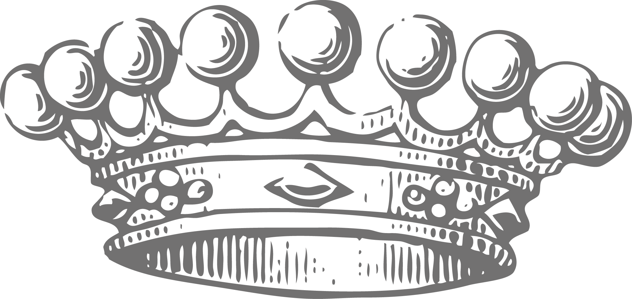 2143x1016 Crown Black And White