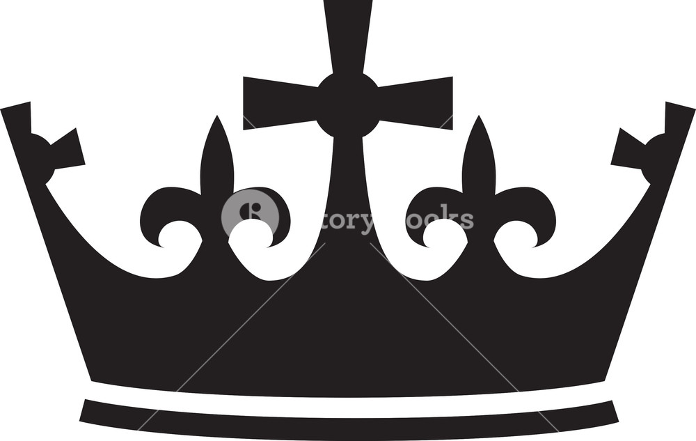 1000x633 Crown Vector Element Royalty Free Stock Image