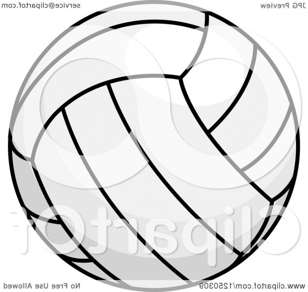 1228x1165 Clipart Of A Volleyball Royalty Free Vector Illustration Black And