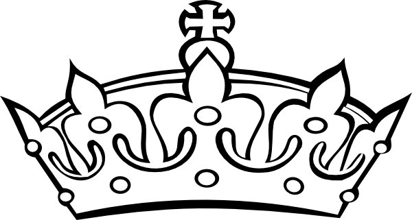 600x321 Collection Of Free Crowns Vector Black And White. Download On Ubisafe