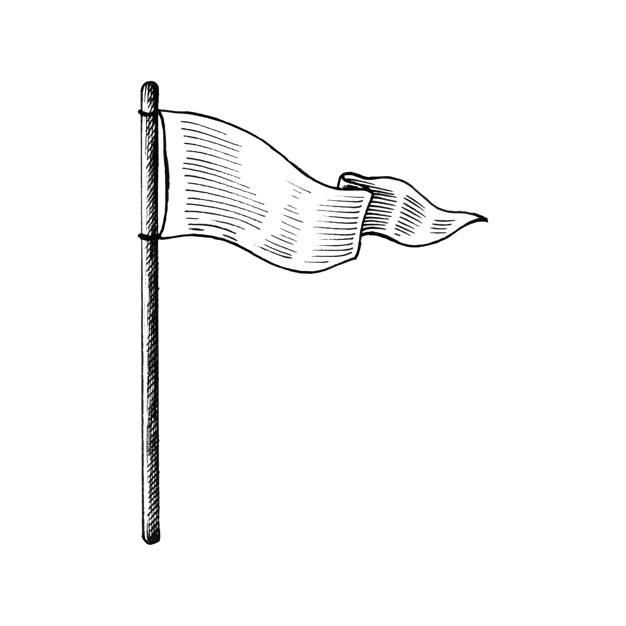 626x626 Hand Drawn White Flag Vector Free Download